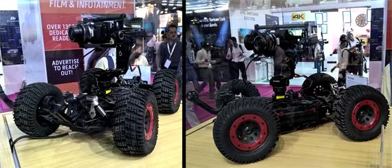 Blackmagic Micro Cinema Camera on Remote Controlled Vehicle